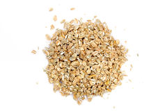Rye cereal. On white background. It is common ingredient of healthy meal Royalty Free Stock Photos
