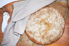 Rye and cornmeal rustic bread loaf Stock Photography