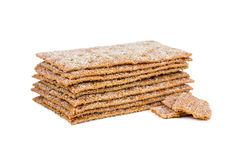Rye crispbread Royalty Free Stock Images