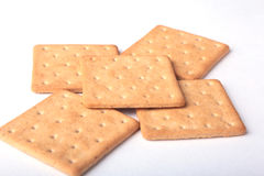 Rye crispbread isolated on a white background Royalty Free Stock Image