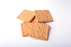 Rye crispbread isolated on a white background Royalty Free Stock Images