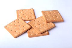 Rye crispbread isolated on a white background Royalty Free Stock Photography