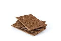 Rye crispbreads. Useful dietary rye crispbreads on table Stock Image