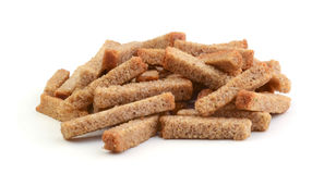 Rye croutons isolated Stock Images