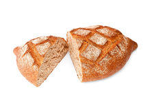 Rye dark bread with bran Stock Photos