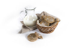 Free Rye Finnish Cookies With Milk Stock Photography - 40780402