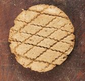 Rye flapjack. Traditional Russian bread, close up shot Royalty Free Stock Images