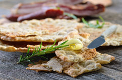 Rye flat bread Stock Photo