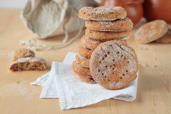 Rye flat bread on napkin Stock Photography