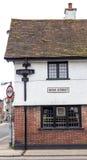 RYE, Großbritannien/CIRCA im Mai 2014 - traditionelles englisches hous Stockfoto