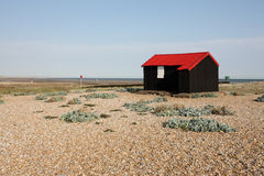 Rye harbour, East Sussex, Fishermans hut Stock Image