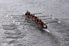 Rye High School races in the Head of Charles Regatta Women's Youth Eights Stock Photos