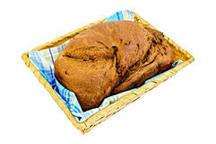 Rye homemade bread in a basket Stock Image