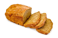 Rye homemade bread cut into slices Royalty Free Stock Images