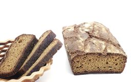 Rye homemade bread with useful additives Royalty Free Stock Photography