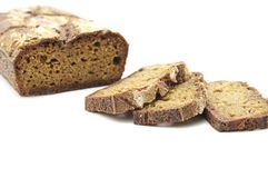 Rye homemade cut bread Royalty Free Stock Images