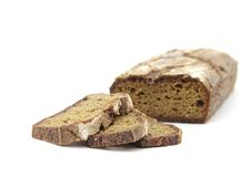 Rye homemade cut bread Stock Photography