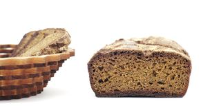 Rye homemade cut bread Royalty Free Stock Photos