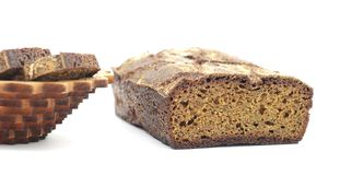 Rye homemade cut bread Royalty Free Stock Photography