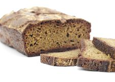 Rye homemade cut bread with useful additives Stock Images