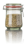 Rye in a jar Stock Image