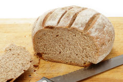 Rye loaf cut open Royalty Free Stock Photos