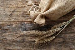Rye mit einer Leinentasche Lizenzfreie Stockfotos