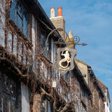 RYE, OST-SUSSEX/UK - 11. MÄRZ: Ansicht des Meerjungfrau-Gasthauses in Rye Lizenzfreie Stockfotografie