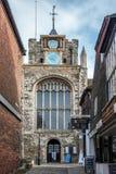 RYE, OST-SUSSEX/UK - 11. MÄRZ: Die Gemeinde-Kirche von St- Maryth Stockbilder