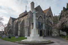 RYE, OST-SUSSEX/UK - 11. MÄRZ: Die Gemeinde-Kirche von St- Maryth Lizenzfreies Stockbild