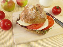 Rye roll for taking along Royalty Free Stock Photography