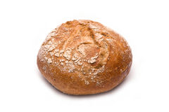 Rye roll  on white Stock Photography