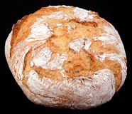 Rye Round Bread Cutout Royalty Free Stock Images
