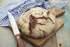 Rye round bread Royalty Free Stock Photo