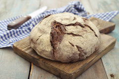 Rye round bread Royalty Free Stock Image