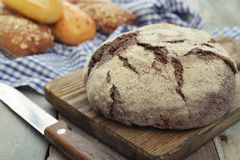 Rye round bread Royalty Free Stock Photography