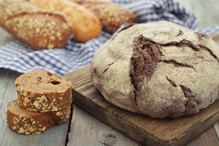 Rye round bread Royalty Free Stock Photos