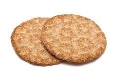 Rye round crispbread Royalty Free Stock Photos