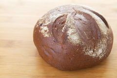 Rye round freshly baked bread Royalty Free Stock Photo