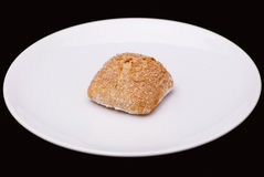 Rye sandwich bun with cereals Stock Image