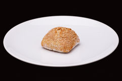 Rye sandwich bun with cereals Royalty Free Stock Photo