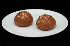 Rye sandwich buns with pumpkin seedss Royalty Free Stock Images