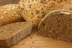 Rye and seeded breads. In natural light Royalty Free Stock Photo