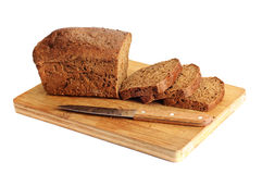 Rye sliced bread Royalty Free Stock Images