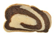 Rye swirl bread Stock Photos