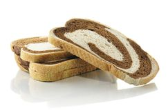 Rye swirl bread royalty free stock photography