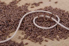 Rye vermicelli Stock Images