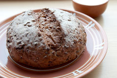 Rye-wheat bread Royalty Free Stock Photography