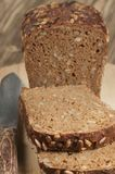 Rye and wheat bread with sunflower seeds Royalty Free Stock Images