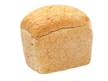Rye and wheat flour white bread coarse grinding and brick shape. Stock Image